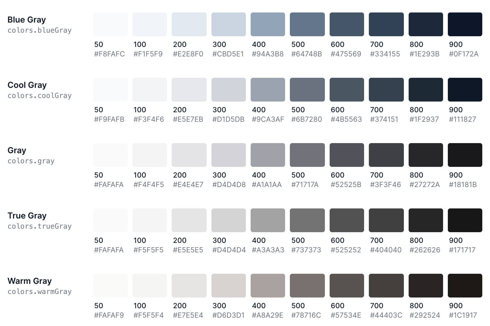 TailwindCSS with extended colour palette